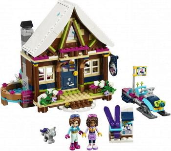 Конструктор Lego FRIENDS Горнолыжный курорт: шале 41323 489pcs friends heartlake high performance school stephanie 10166 model building blocks princess toys bricks compatible with lego