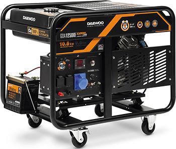 Электрический генератор и электростанция Daewoo Power Products GDA 12500 E культиватор электрический daewoo power products dat 1800 e