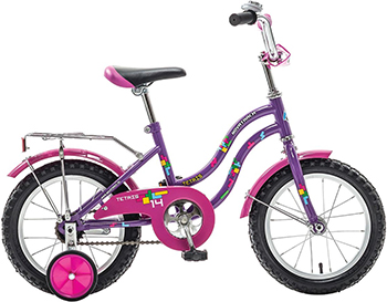 Велосипед Novatrack 14'' TETRIS фиолетовый 141 TETRIS.VL8 детский велосипед для мальчиков novatrack tetris x60777 к blue