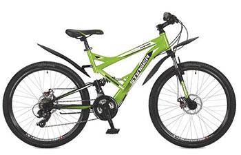 Велосипед Stinger 26 SFD.VERSUD.16 GN7 26'' Versus D 16'' зеленый велосипед stinger versus 24 2016