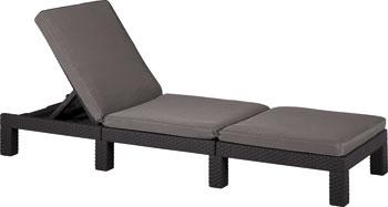 Шезлонг Allibert Daytona коричневый стул allibert iowa коричневый