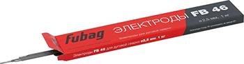 Электрод сварочный с рутилово-целлюлозным покрытием FUBAG FB 46 D2.5 мм 38855 электрод сварочный fubag fb 46 d4 0 мм с рутилово целлюлозным покрытием пачка 1 кг
