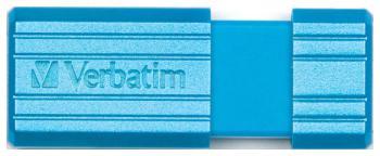 Флеш-накопитель Verbatim 32 Gb PinStripe 49057 USB2.0 синий CARIBBEAN BLUE usb flash накопитель verbatim pinstripe 16gb green