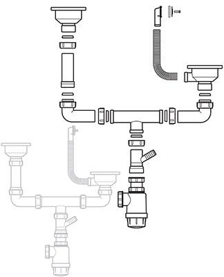 Слив Teka 3 1/2 с переливом (61001169)