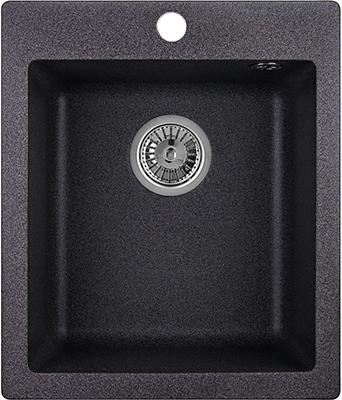 Кухонная мойка Weissgauff QUADRO 420 Eco Granit графит  weissgauff quadro 420 eco granit песочный