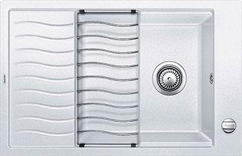 Кухонная мойка BLANCO ELON XL 6S SILGRANIT белый с клапаном-автоматом кухонная мойка ukinox stm 800 600 20 6