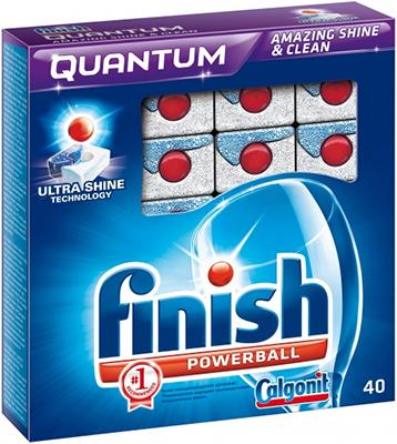 Таблетки для посудомоечных машин FINISH Quantum Powerball 40 шт. активные таблетки для посудомоечных машин bravix geschirr reiniger 40 шт х 20 г