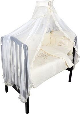 Комплект постельного белья Золотой Гусь Сабина 7 предметов 100% хлопок (бежевый) костюмы для девочек