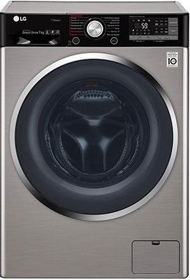 Стиральная машина LG F 2J9HS2S темно-серебристая стиральная машина lg f1096nd3