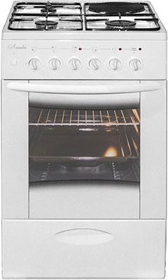Комбинированная плита Лысьва ЭГ 1/3г01 МС-2у белая со стеклянной крышкой цена