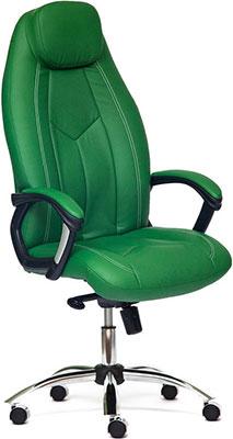 Кресло Tetchair BOSS люкс (хром) (кож/зам зеленый/зеленый перфорированный 36-001/36-001/06) цены