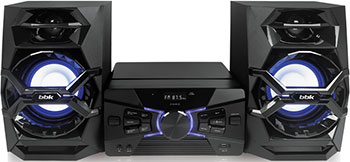 Музыкальный центр BBK AMS 118 BT черный bbk ams 110 bt черно темно синий