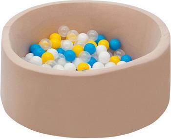 Бассейн сухой Hotnok Жемчужная дискотека с 200 шарами в комплекте: голуб желт бел прозр. sbh 051 блендер с чашей st 300вт бел желт 805312