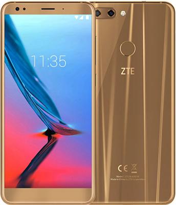 Мобильный телефон ZTE Blade V9 (3+32) золотой мобильный телефон ark benefit u281 белый 2 8 32 мб 3 симкарты