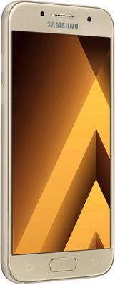 Мобильный телефон Samsung Galaxy A3 (2017) 16 Gb SM-A 320 F золотистый мобильный телефон samsung galaxy s9 64 gb sm g 965 f фиолетовый