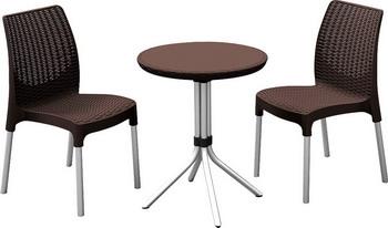 Комплект мебели Keter Chelsea 17199261 коричневый стол keter futura 17197868