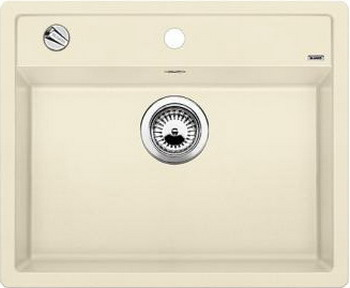 Кухонная мойка BLANCO DALAGO 6-F SILGRANIT жасмин с клапаном-автоматом мойка dalago 6 f alumetallic 514770 blanco