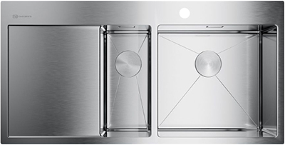 Кухонная мойка OMOIKIRI Akisame 100-2-IN-R нерж.сталь/нержавеющая сталь (4973547) omoikiri tovada oto 49 1 in