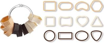 Формочки для печенья Tescoma DELICIA 12шт 630905 этикетки для стаканов tescoma myglass 12шт океан 308820