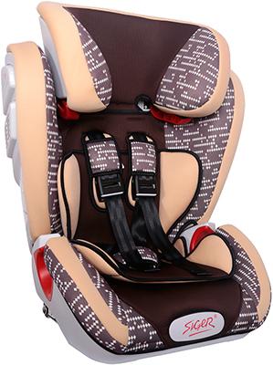 Автокресло Siger Индиго ISOFIX ART коричневый ромб 9-36 кг косметичка dumpling packages 2014