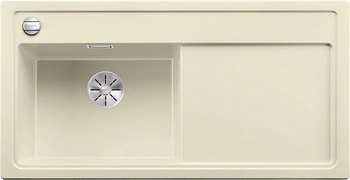 Кухонная мойка BLANCO ZENAR XL 6S (чаша слева) SILGRANIT жасмин с кл.-авт. InFino 523979 мойка zenar xl 6 s anthracite right 519271 blanco