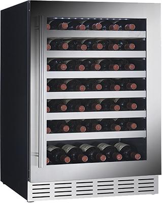 Встраиваемый винный шкаф Cavanova CV 060 T черный серебристая дверца