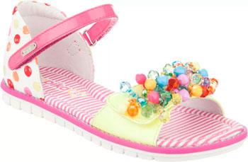 Туфли открытые Kapika 33271К-2 34 размер цвет белый/розовый балетки milton 21820 34 размер цвет розовый