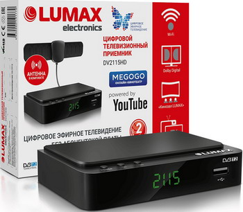 Цифровой телевизионный ресивер Lumax DV 2115 HD черный цифровой телевизионный ресивер lumax dv 3209 hd