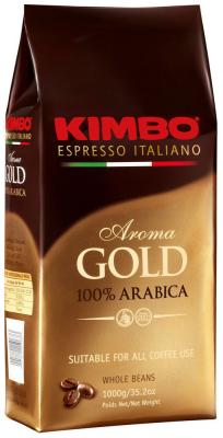 Кофе зерновой KIMBO Aroma Gold 100% Arabica  (1kg) dali 16 1 16б