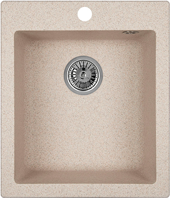 Кухонная мойка Weissgauff QUADRO 420 Eco Granit песочный  weissgauff quadro 420 eco granit графит
