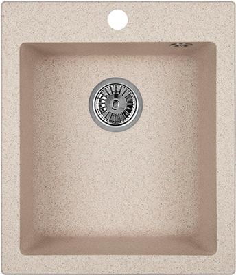 Кухонная мойка Weissgauff QUADRO 420 Eco Granit песочный  weissgauff quadro 775k eco granit серый беж