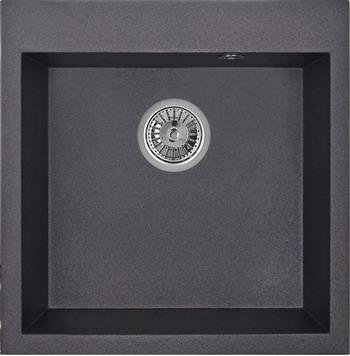 Кухонная мойка Weissgauff QUADRO 505 Eco Granit черный цена и фото