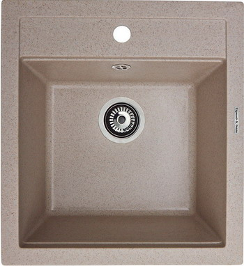 Кухонная мойка Zigmund amp Shtain PLATZ 465 речной песок кухонная мойка ukinox stm 800 600 20 6