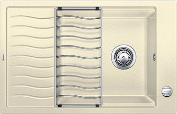 Кухонная мойка BLANCO ELON XL 6S SILGRANIT жасмин с клапаном-автоматом мойка blanco classik 9e silgranit 521341 жасмин
