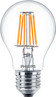 Лампа Philips LEDClassic 6-70 W A 60 E 27 WW CL APR набор сверел bosch robust line по дереву 8шт 2607010533