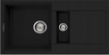 Кухонная мойка OMOIKIRI Sakaime 86-2-BL Tetogranit/черный (4993117) кружка цветная внутри printio какаду инка