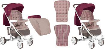 где купить Коляска прогулочная Lorelli S-300 с накидкой на ножки бежево-красный Beige&Red 1839 10020841839 по лучшей цене