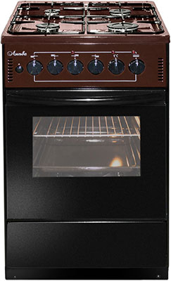 Комбинированная плита Лысьва ЭГ 401-2у коричневая щит мастер 2у