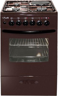 Комбинированная плита Лысьва ЭГ 1/3г01 МС-2у коричневая без крышки цена