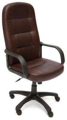 Кресло Tetchair DEVON (кож/зам коричневый/коричневый перфорированный 36-36/36-36/06) кресло tetchair сн767 кож зам коричневый 36 36