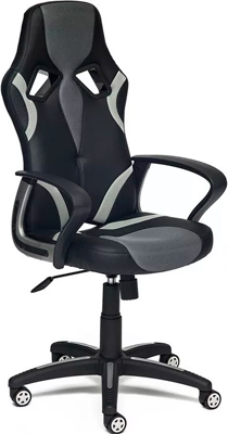 Кресло Tetchair RUNNER (кож/зам/ткань черный/серый 36-6/tw 12/tw-14) кресло tetchair runner кож зам ткань черный жёлтый 36 6 tw 27 tw 12