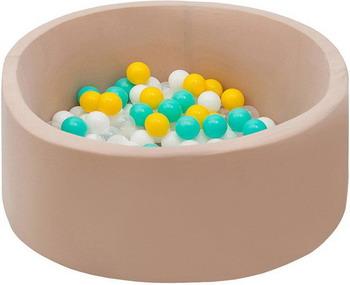 Бассейн сухой Hotnok Ванильная дискотека с 200 шарами в комплекте: бел  прозр  мятн  желт sbh 052