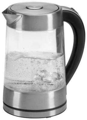 Чайник электрический Clatronic WK 3501 G inox чайник clatronic wk 3501 g 2200 вт прозрачный 1 7 л металл стекло