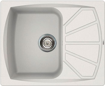 Кухонная мойка Elleci Living 125 610х500 granitek (68) titano LGL 12568 цена