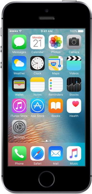 Мобильный телефон Apple iPhone SE 128 Gb SPACE GRAY (MP 862 RU/A) сотовый телефон apple iphone 5s 16gb space gray ff352ru a восстановленный