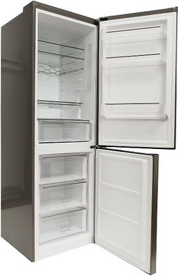 Двухкамерный холодильник Leran CBF 211 IX  обогреватель leran ef371