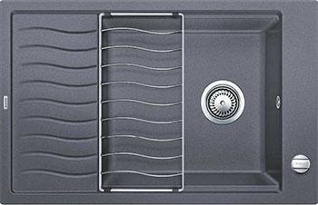 Кухонная мойка BLANCO ELON XL 6 S-F темная скала  с клапаном-автоматом мойка кухонная blanco elon xl 6 s шампань с клапаном автоматом 518741