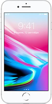 Мобильный телефон Apple Apple iPhone 8 64 ГБ серебристый (MQ6H2RU/A) свеча ароматизированная sima land лимон на подставке высота 6 см