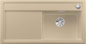Кухонная мойка BLANCO ZENAR XL 6S (чаша справа) SILGRANIT шампань с кл.-авт. InFino 523950 мойка кухонная blanco zenar 45s чаша справа белый с клапаном автоматом 519255
