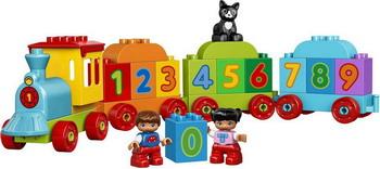 Конструктор Lego DUPLO Поезд «Считай и играй» 10847 lego lego duplo 10831 моя веселая гусеница